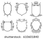 vector set of six different... | Shutterstock .eps vector #610601840