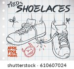 doodle in a notebook paper with ... | Shutterstock .eps vector #610607024