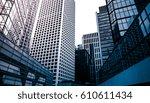modern office building detail ... | Shutterstock . vector #610611434