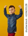 beauty smiling sport child boy... | Shutterstock . vector #610620128