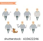 grandfather character for... | Shutterstock .eps vector #610622246