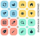 vector illustration set of... | Shutterstock .eps vector #610624460