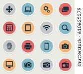 vector illustration set of... | Shutterstock .eps vector #610625279