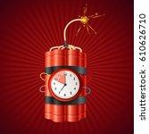 detonate dynamite bomb and... | Shutterstock .eps vector #610626710