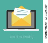 email marketing  internet... | Shutterstock .eps vector #610626809