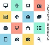 vector illustration set of... | Shutterstock .eps vector #610626980
