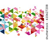abstract colorful and creative... | Shutterstock .eps vector #610627208