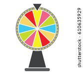 wheel of fortune  lucky icon.... | Shutterstock .eps vector #610635929
