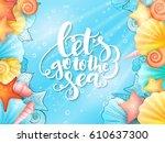 vector illustration of hand... | Shutterstock .eps vector #610637300