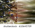 set 2 of multicolored abstract... | Shutterstock . vector #610645709