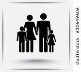 family sign icon  vector... | Shutterstock .eps vector #610649606