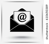 mail sign icon  vector... | Shutterstock .eps vector #610650389