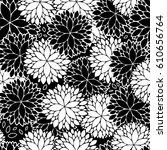 minimalist abstract dahlia...   Shutterstock .eps vector #610656764