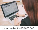 cropped view of business woman... | Shutterstock . vector #610661666