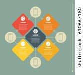 vector infographic of... | Shutterstock .eps vector #610667180