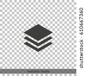 stack of papers icon. | Shutterstock .eps vector #610667360
