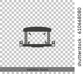 outdoor concert stage icon. | Shutterstock .eps vector #610668080