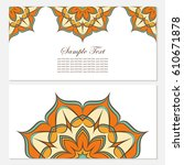set of templates with color... | Shutterstock .eps vector #610671878