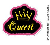 patch  badge or sticker with... | Shutterstock .eps vector #610672268
