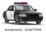 Police Car 3d Illustration...