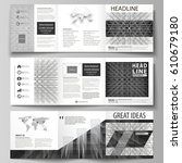 business templates for tri fold ... | Shutterstock .eps vector #610679180