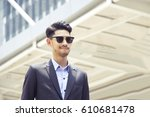 young muslim business man is... | Shutterstock . vector #610681478