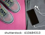 jogging and running concept.... | Shutterstock . vector #610684313