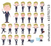 a set of men with who express... | Shutterstock .eps vector #610701713
