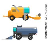 agricultural vehicles and... | Shutterstock .eps vector #610710350