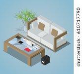 vector isometric concept... | Shutterstock .eps vector #610717790
