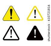 vector illustration of warning... | Shutterstock .eps vector #610721816