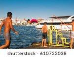 istanbul  turkey. august 14 ... | Shutterstock . vector #610722038