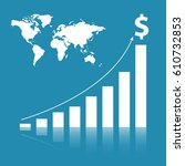 business stat background | Shutterstock .eps vector #610732853