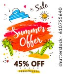 "colorful ""summer offer"" flyer... 