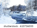 Winter River Wild Flowing...