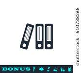 folders icon flat. simple black ...