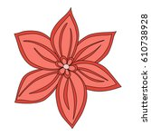 flower mandala for cards ... | Shutterstock . vector #610738928