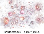 Abstract Delicate Pink Flowers...