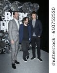 Small photo of LAS VEGAS - MAR 27: Jon Hamm, Edgar Wright, Ansel Elgort at the Sony CinemaCon Photocall at the Caesars Palace on March 27, 2017 in Las Vegas, NV