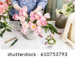 Florist At Work  Woman...