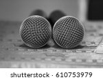 microphone   Shutterstock . vector #610753979