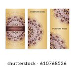 set of templates for business...   Shutterstock .eps vector #610768526