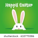 Stock vector easter rabbit easter bunny 610770386