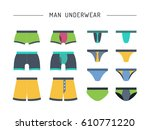 set of men underwear  cowards ... | Shutterstock .eps vector #610771220
