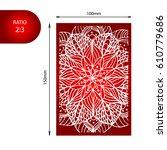 flower mandala card. perfect... | Shutterstock . vector #610779686