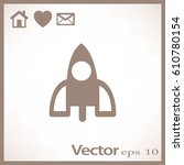 rocket icon | Shutterstock .eps vector #610780154