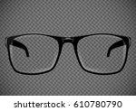 black eye glasses. spectacles... | Shutterstock .eps vector #610780790