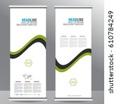 roll up business brochure flyer ... | Shutterstock .eps vector #610784249