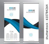 roll up business brochure flyer ...   Shutterstock .eps vector #610784264