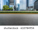clean asphalt road with modern...   Shutterstock . vector #610784954